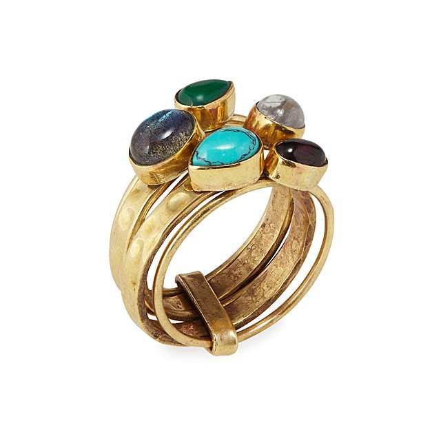 Five Stone Stacking Ring