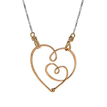 Two Hearts Beat As One Necklace