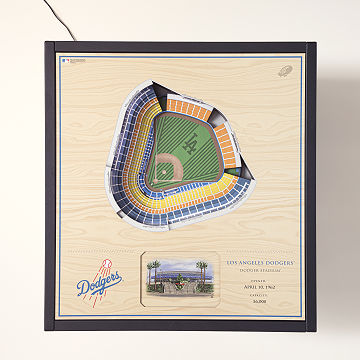Baseball Stadium Lights End Table