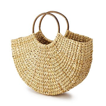 Cane Handle Handwoven Grass Bag