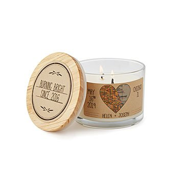 Anniversary Map Candle